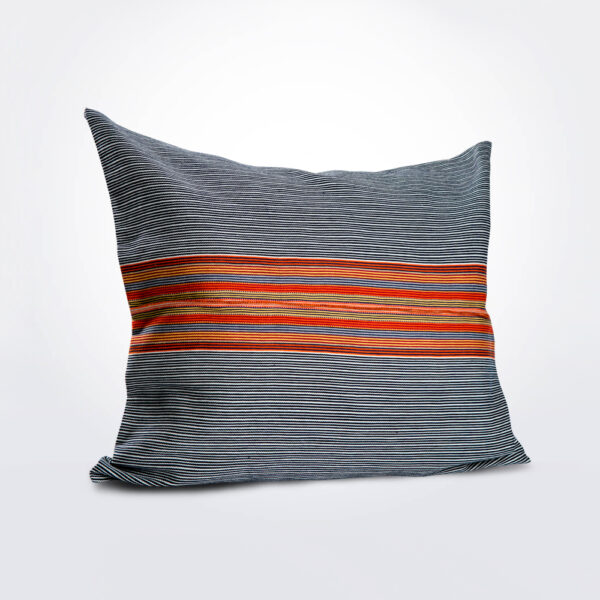 Mexican navy orange pillow cover.