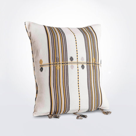Yellow Mexican Pillow Cover