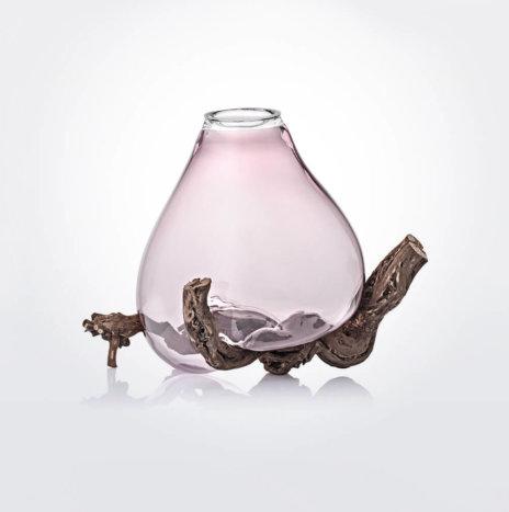 Sedimenti Amethyst Glass Vase