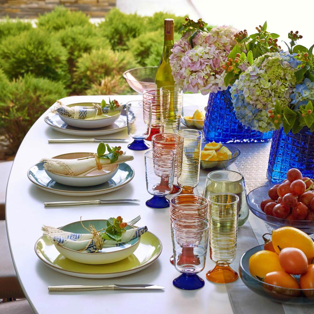 Tricolor-glass-set