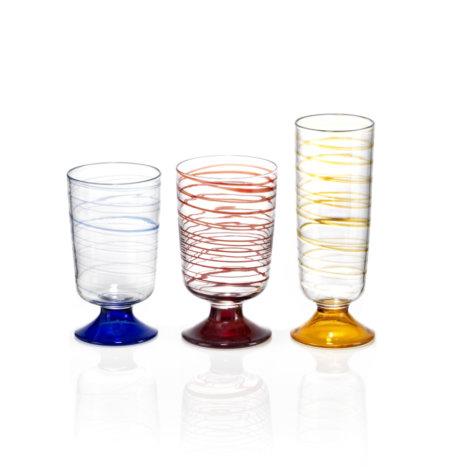Tricolor Glass Set
