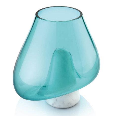 CUMULI TURQUOISE GLASS VASE