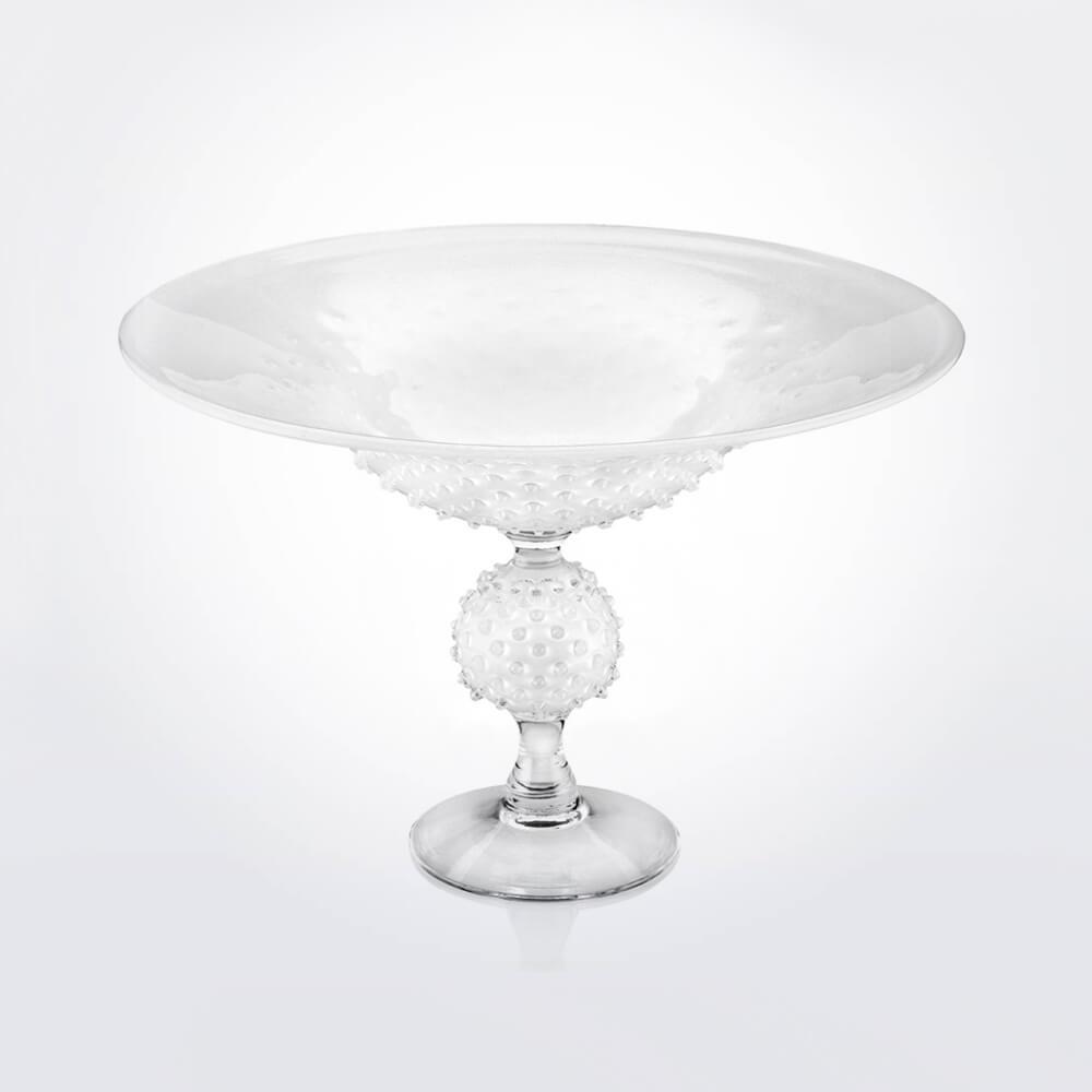 White-glass-spiky-centerpiece