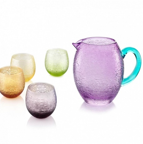 COLORED GLASS BEAKERS SET
