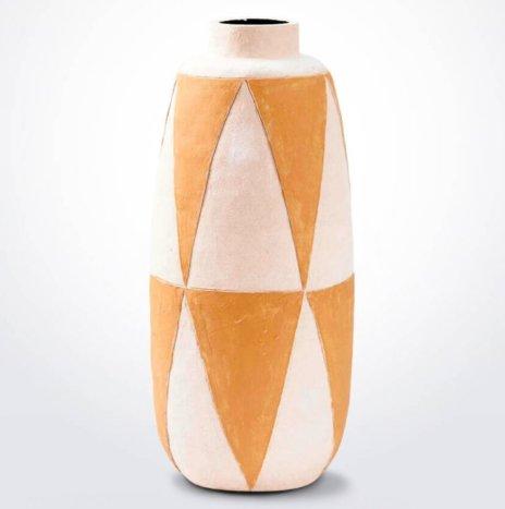 Geometric Clay Vase