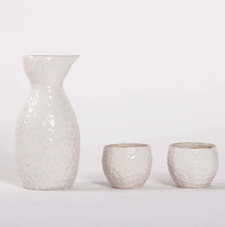 PORCELAIN WHITE SAKE SET