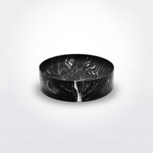 Black water marble bowl.