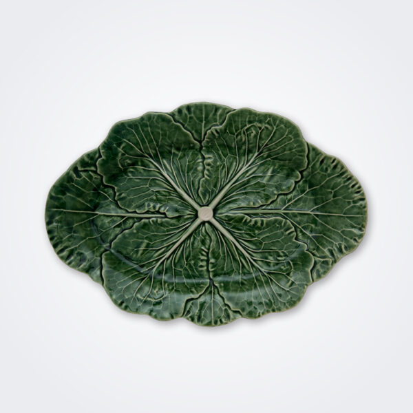 Cabbage oval platter product picture.