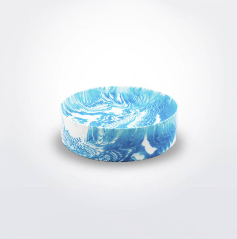 LIGHT BLUE WATER MARBLE BOWL
