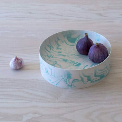 LIGHT GREEN WATER MARBLE BOWL