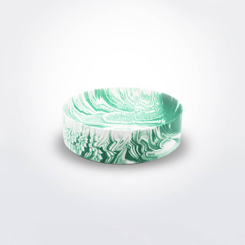 Light-green-water-marble-bowl