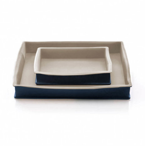 STONEWARE BAKING PANS SET