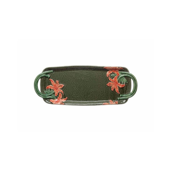 Tropical ceramic tray product picture.