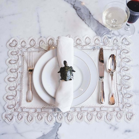 Silver Placemat and Napkin Set