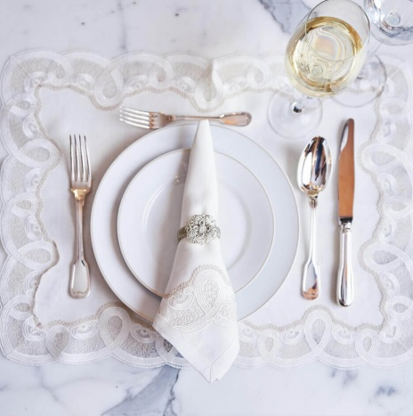 EMBROIDERED WHITE ITALIAN PLACEMATS