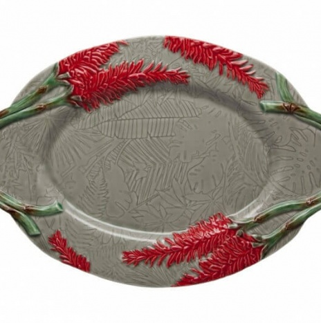 TROPICAL OVAL PLATTER 45