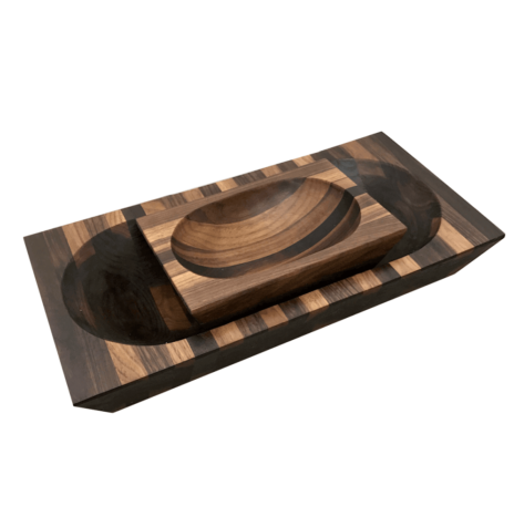 BLACK WALNUT BOWL SET