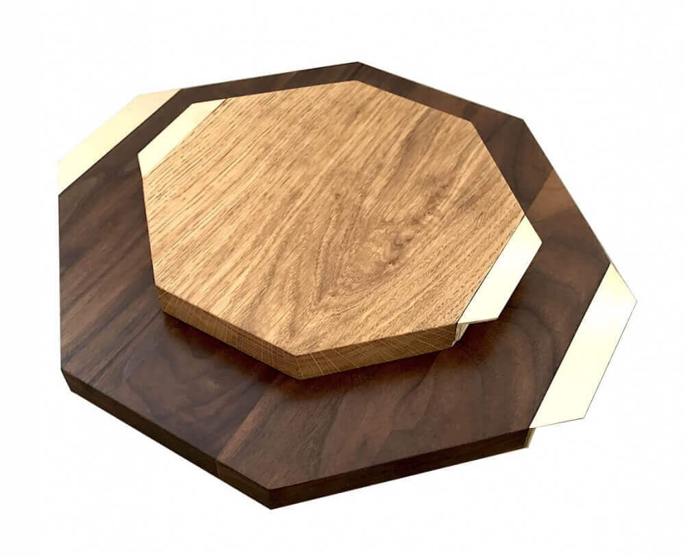 OCTAGON SERVING BOARD SET 2