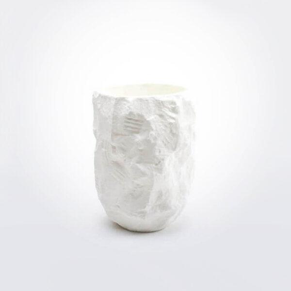 Crockery white vase small product photo.