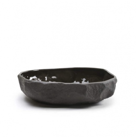 CROCKERY LARGE FLAT BOWL