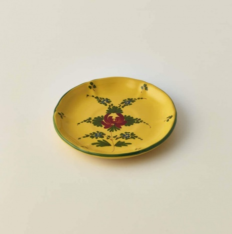 GIALLO FIORE TEA CUP MATCHING PLATE