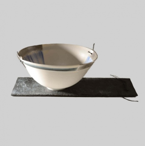CLAY & SILVER BOWL