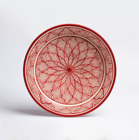 Moroccan Safi Red Serving Platter II