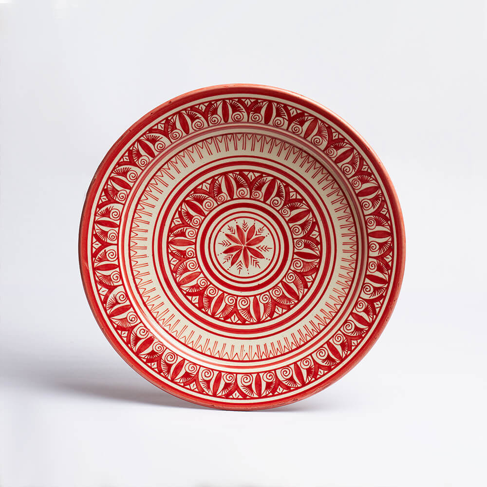 Moroccan-Safi-Red-Platter-III