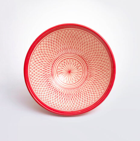 Moroccan Safi Red Bowl