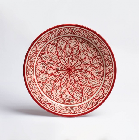 MOROCCAN SAFI RED PLATTER II