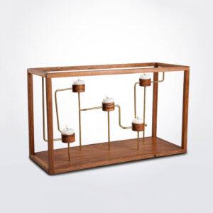 Framed quintuple candelabrum
