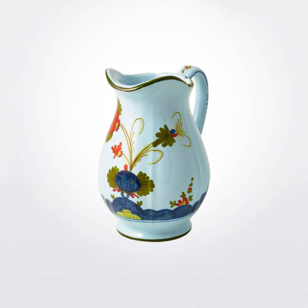 Blue Majolica creamer product picture.