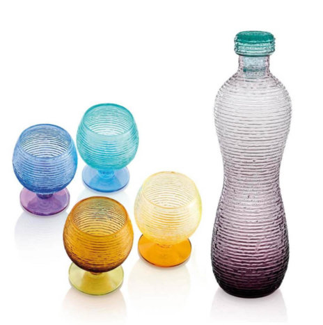 MULTICOLOR GLASSWARE SET