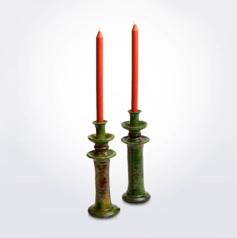 Tamegroute Glazed Candle Holder Set