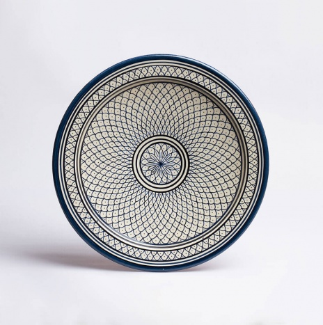 MOROCCAN FEZ BLUE AND WHITE PLATTER