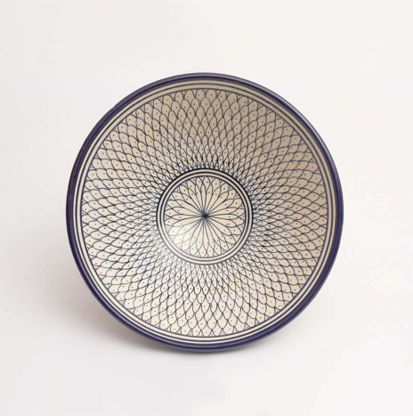 MOROCCAN FEZ BLUE AND WHITE SALAD BOWL