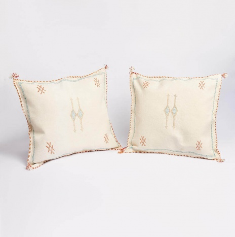 BEIGE MOROCCAN PILLOW COVER SET