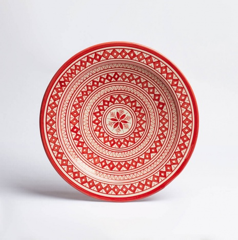 MOROCCAN SAFI RED PLATTER I