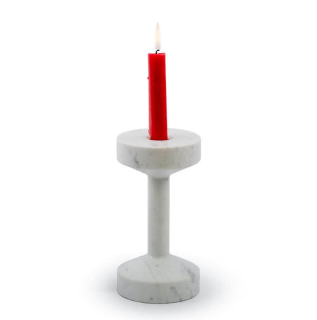 DUMBBELL MARBLE CANDLE HOLDER