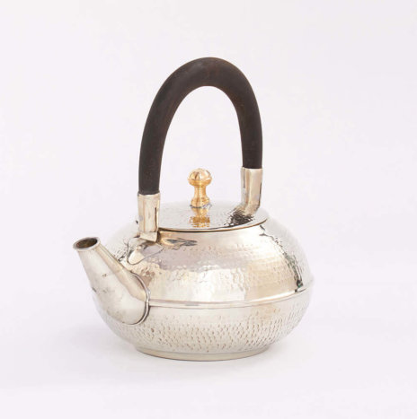 MOROCCAN SILVER HAMMERED TEAPOT