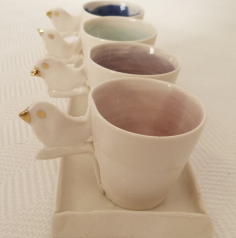 GOLD BIRD CUP SET