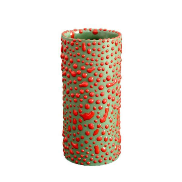 CAMOUFLAGE RED DROPS VASE