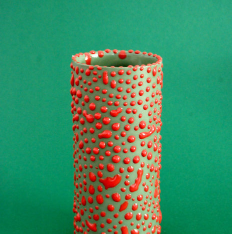 RED DROPS VASE