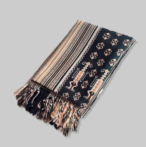 NATURAL WOVEN THROW
