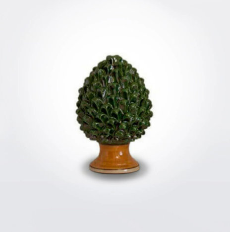 Ceramic Green Pine Cone (Medium)