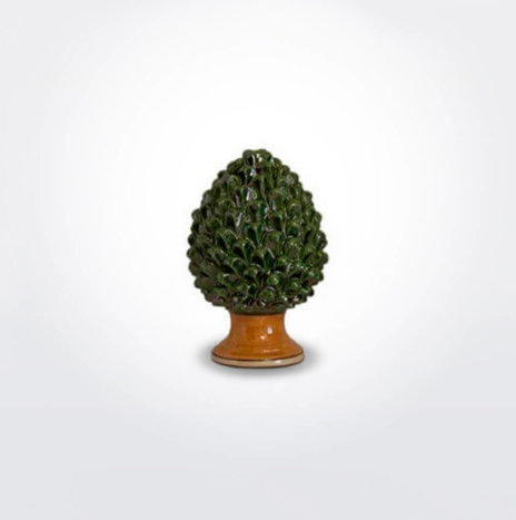 Ceramic Green Pine Cone (Small)