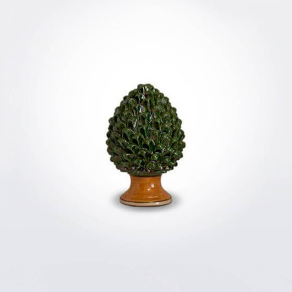 Ceramic green pine cone small.