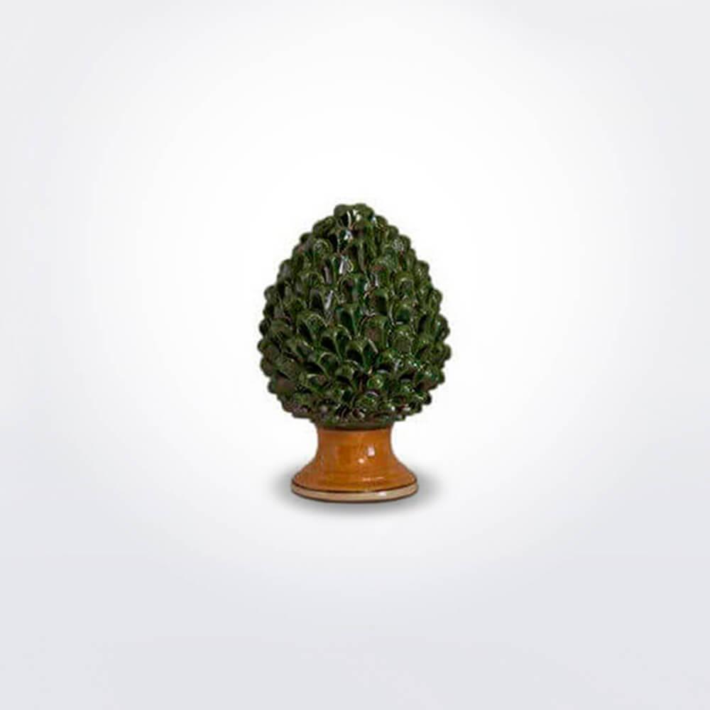 Ceramic-green-pine-cone-small