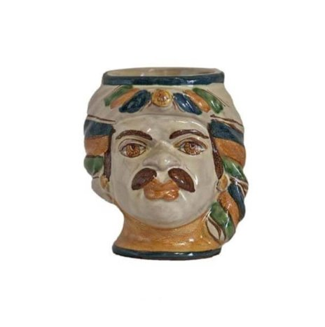 CERAMIC MAN HEAD PENCIL HOLDER II