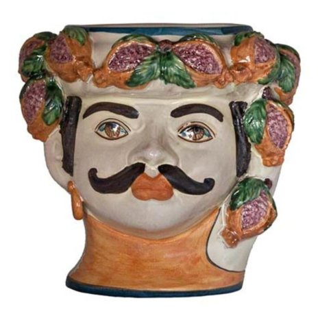 MAN HEAD WITH POMEGRANATES VASE (Large)